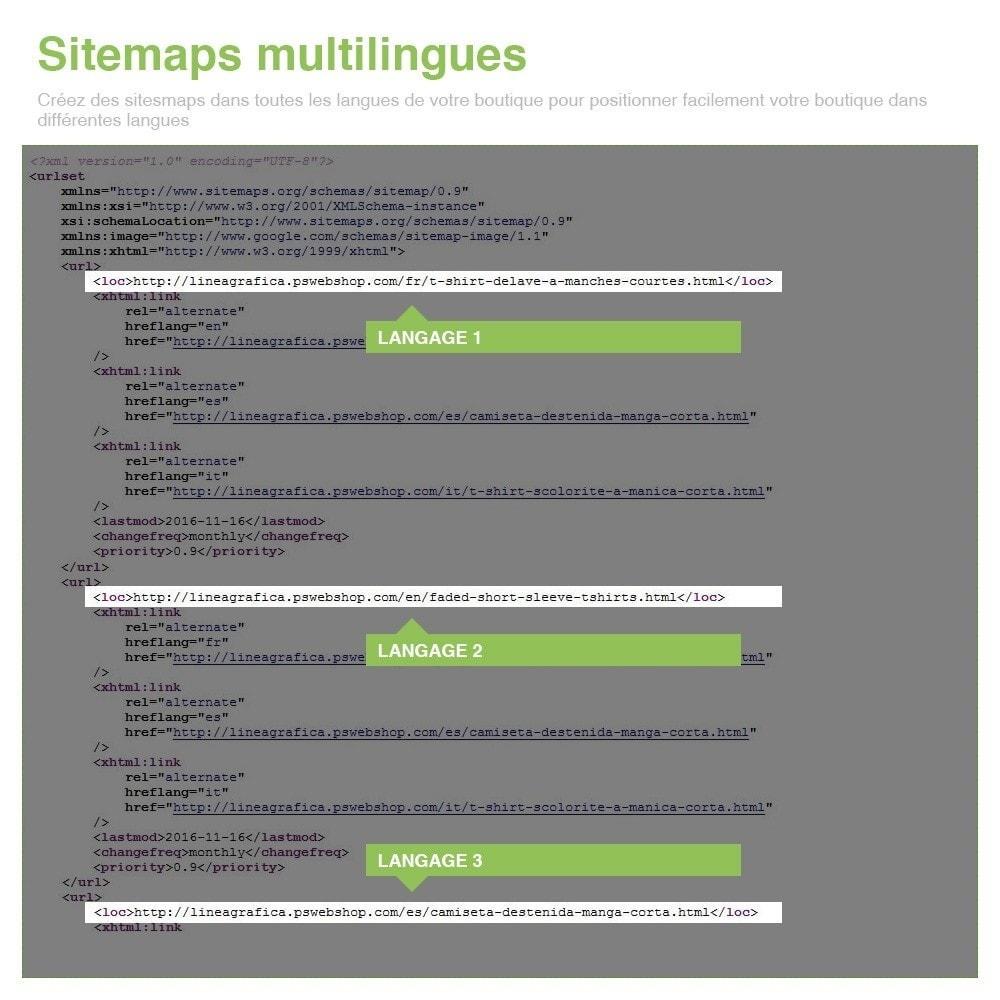 module - SEO (référencement naturel) - Sitemaps Pro Multilingues et Multi-Boutiques - SEO - 13