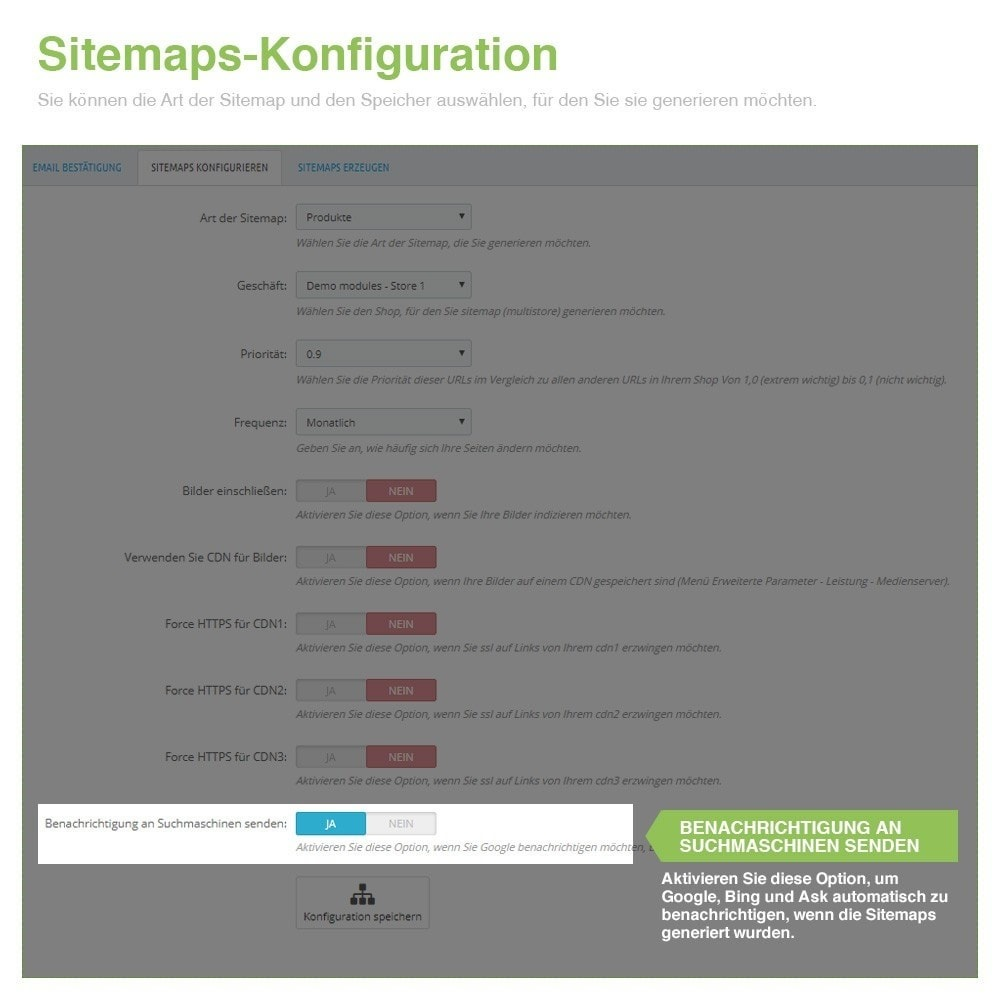 module - SEO - Multisprach und Multishop Sitemap Pro - SEO - 6