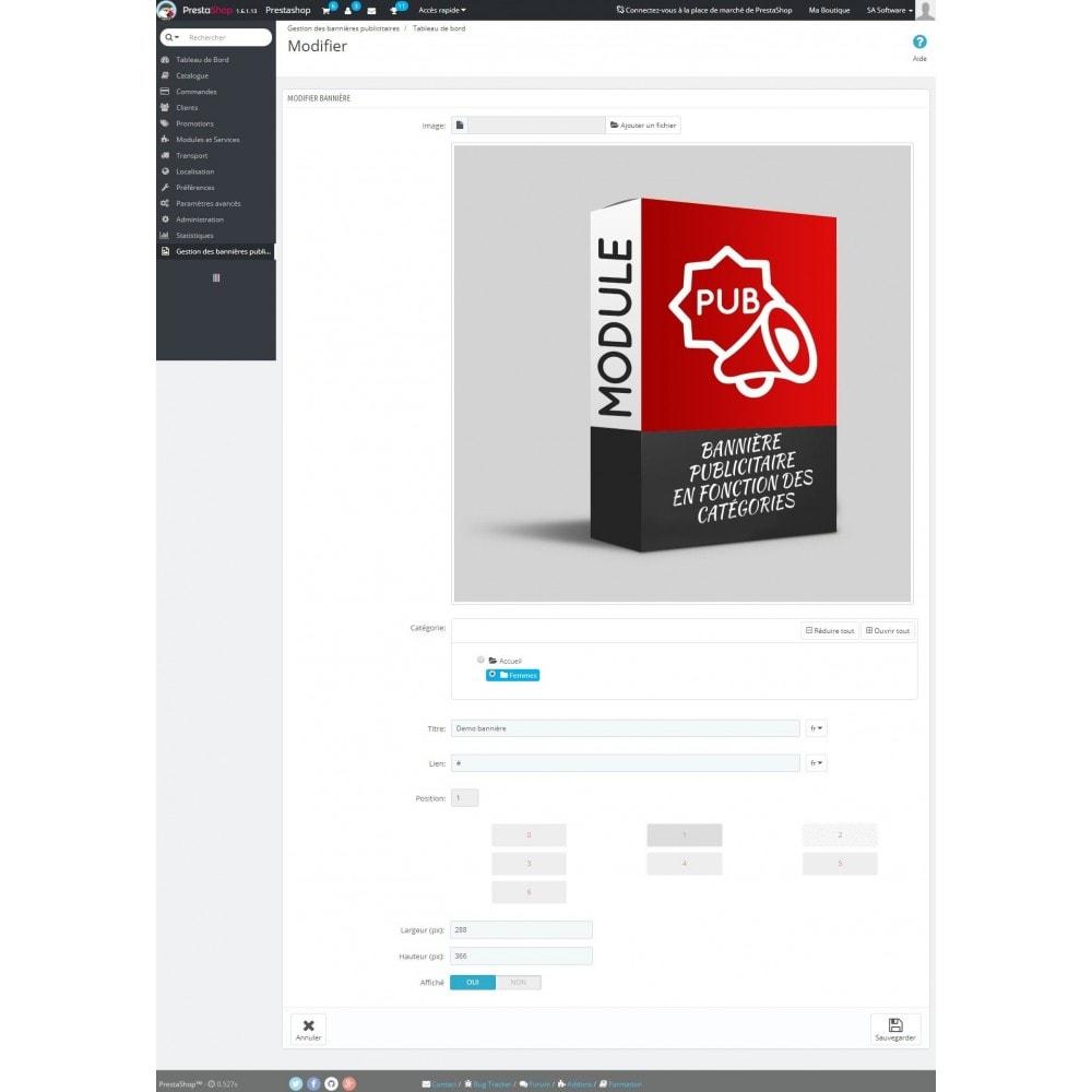 module - Blocs, Onglets & Bannières - Gestion des publicités liste des produits - 3