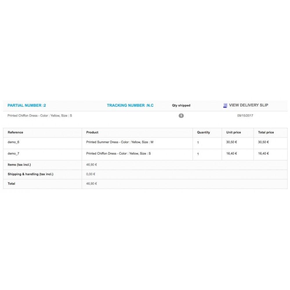 module - Zarządzanie zamówieniami - Partial Shipment/Delivery - Remaining order - 6