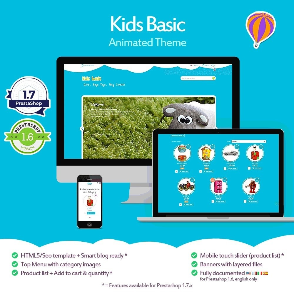 theme - Kids & Toys - Kids Basic - 1