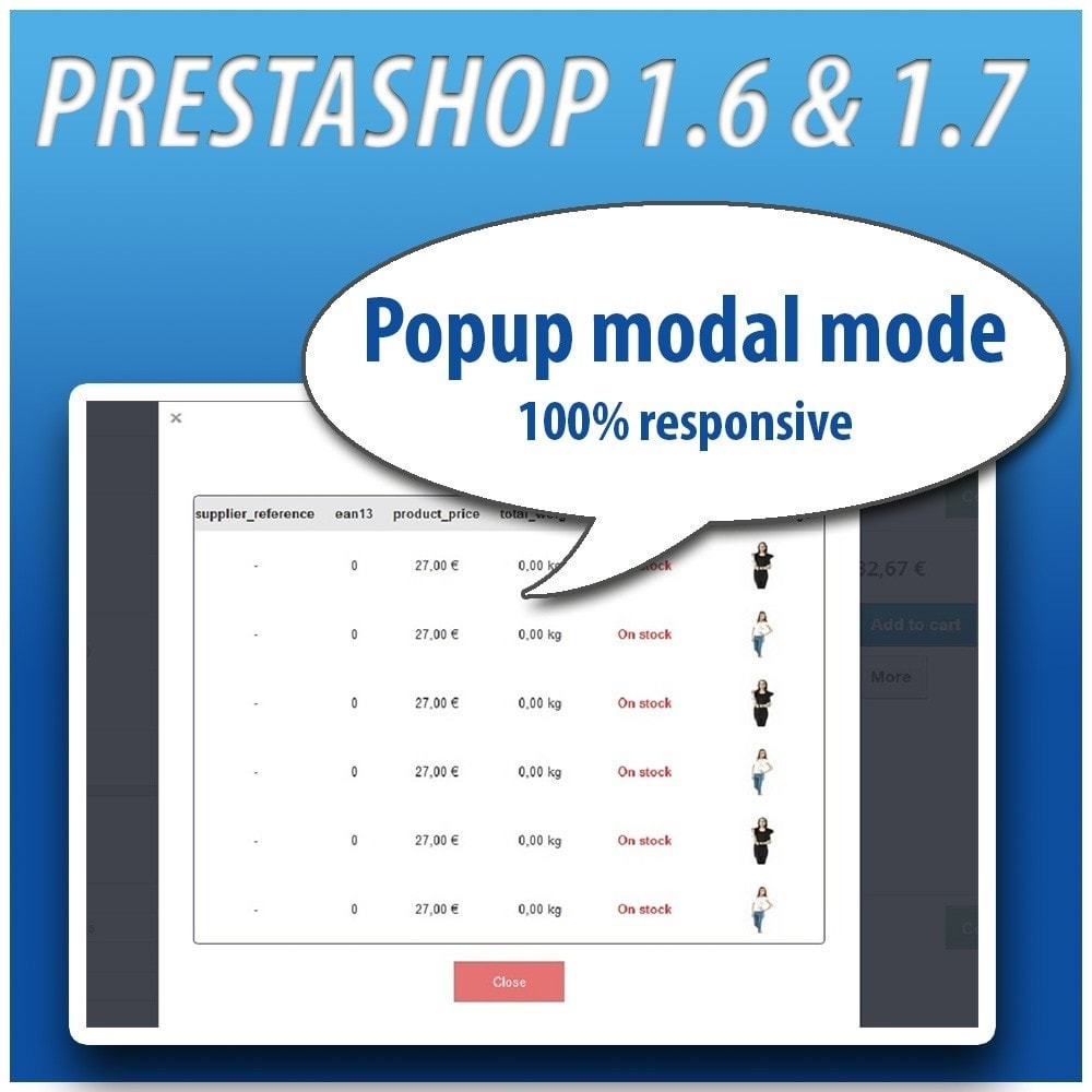 module - Versies & Personalisering van producten - Combinations Table PRO - 7