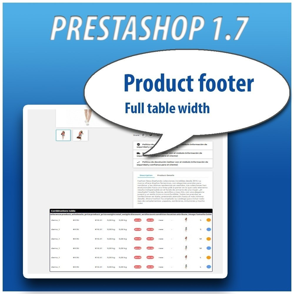 module - Combinations & Product Customization - Combinations Table PRO - 12