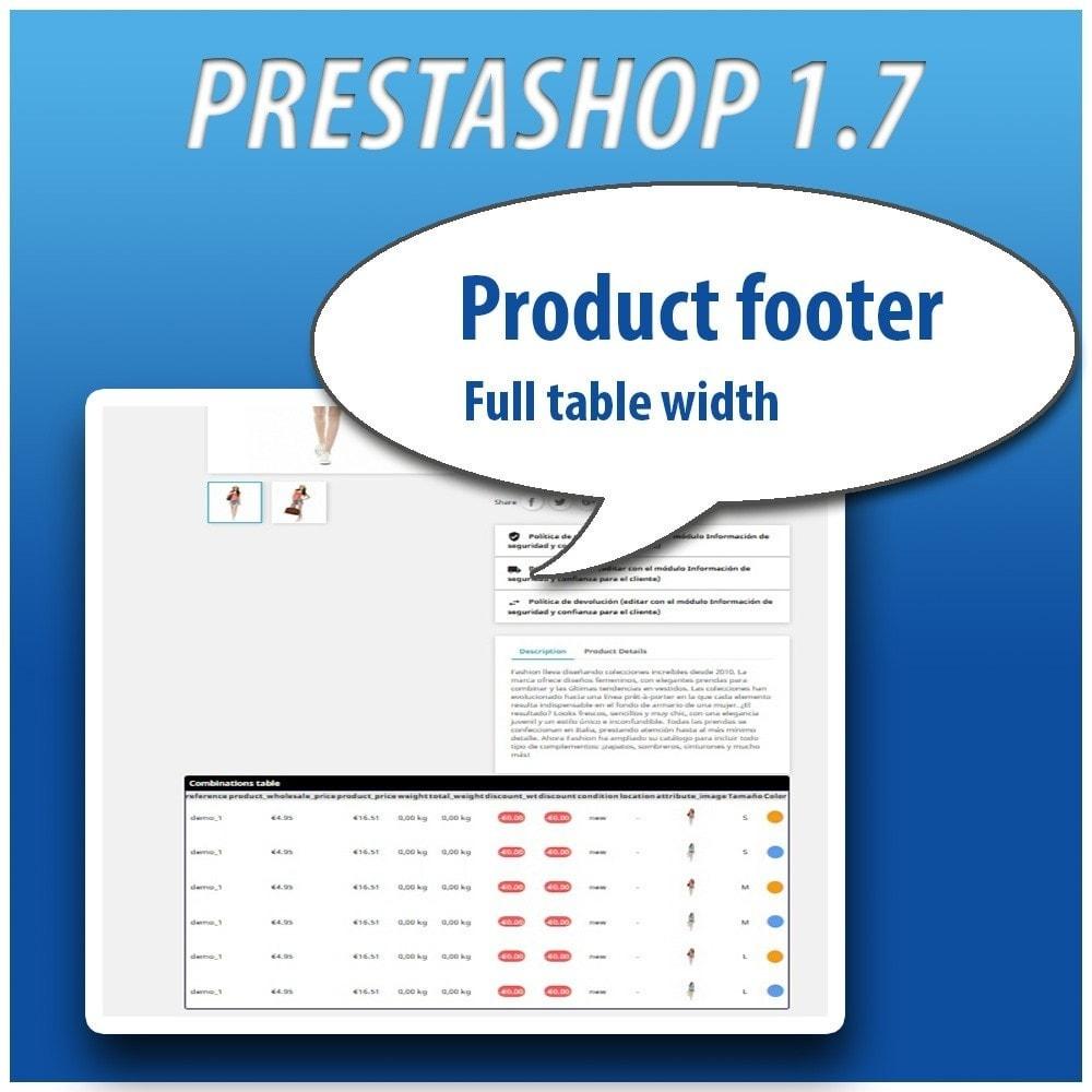 module - Combinaciones y Personalización de productos - Combinations Table PRO - 12