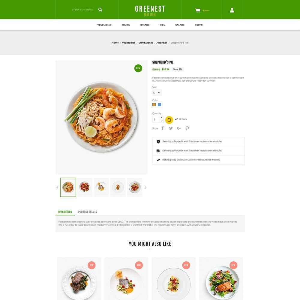 theme - Food & Restaurant - Greenest - Food Store - 5