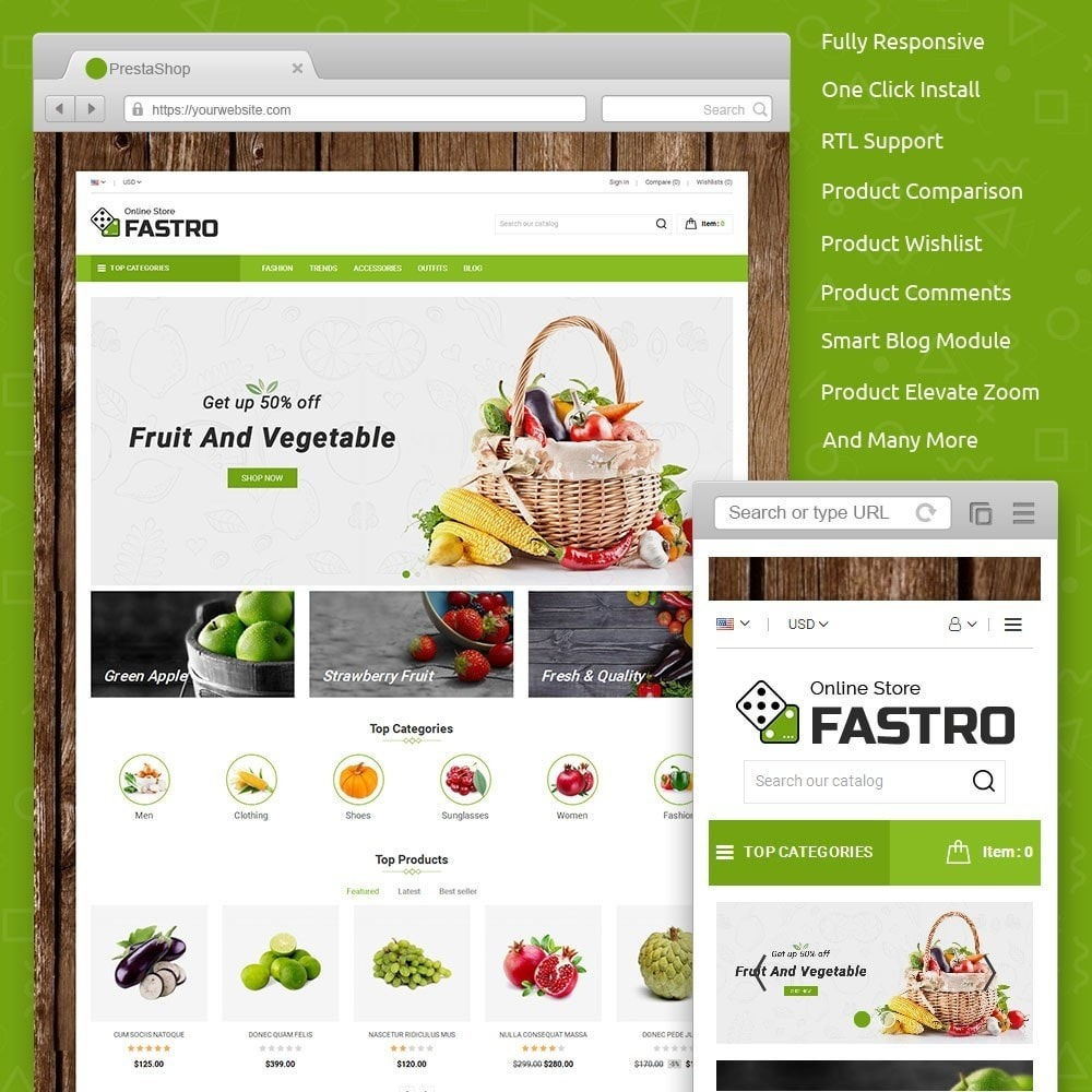 theme - Food & Restaurant - Fastro Grocery Store - 1