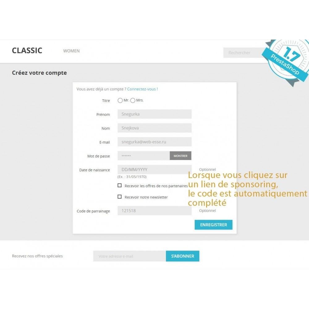 module - Fidélisation & Parrainage - Programme de parrainage et d'affiliation - 6