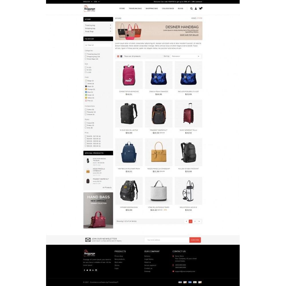 Baggage  - Bagstore template
