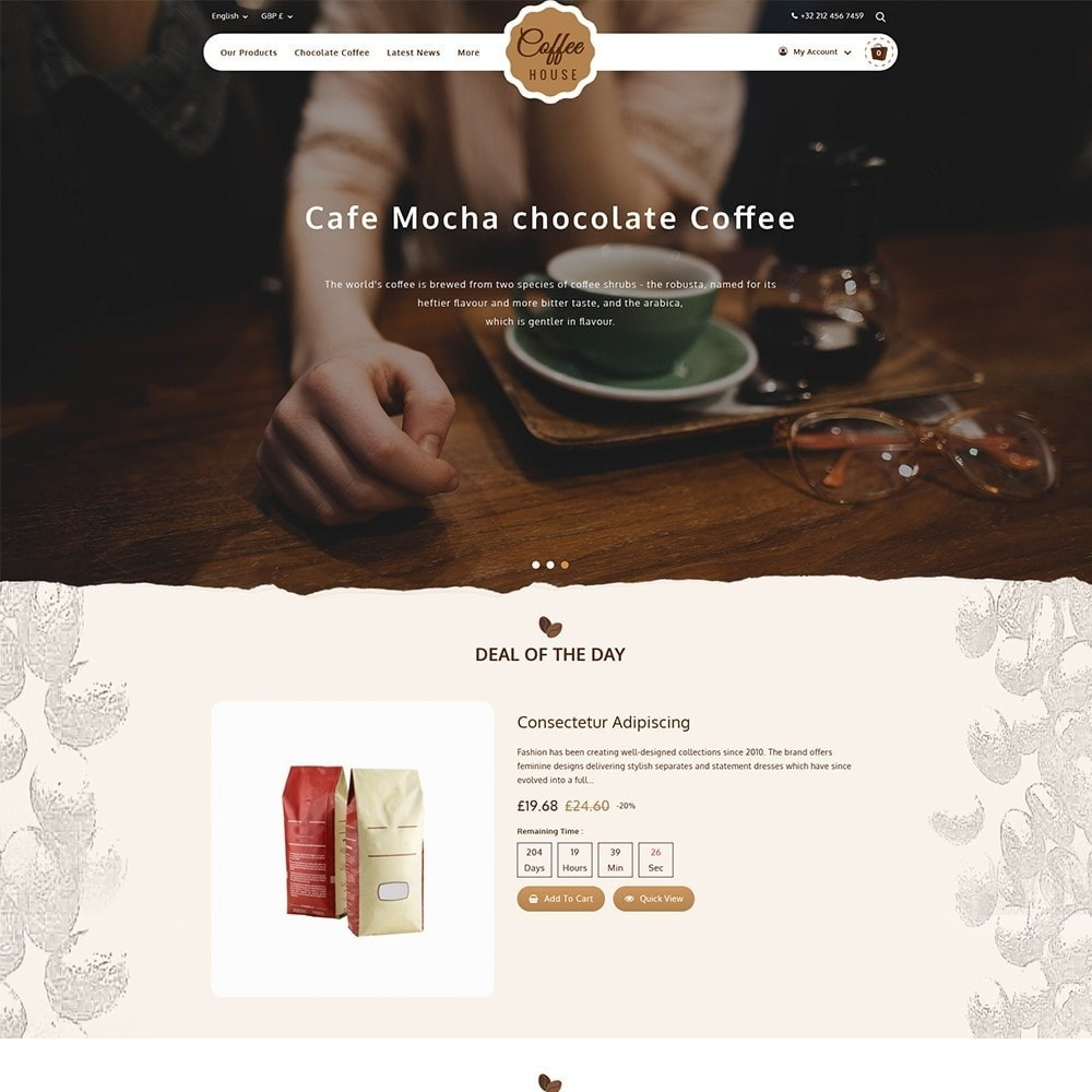 theme - Eten & Restaurant - Coffeehouse Beverage Store - 2