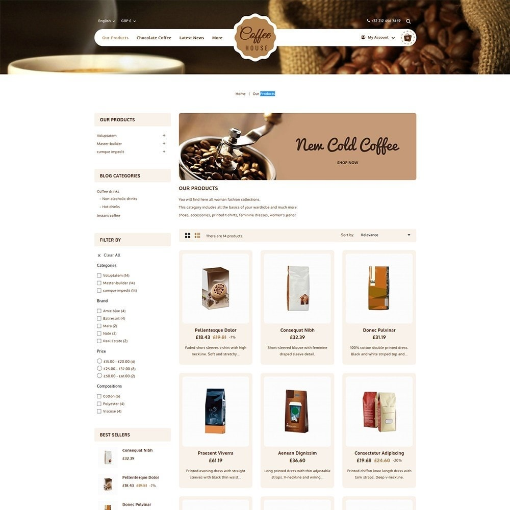theme - Eten & Restaurant - Coffeehouse Beverage Store - 3