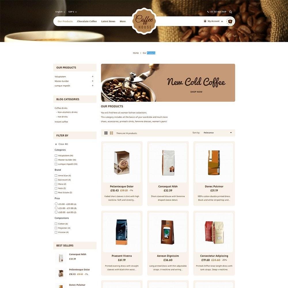 theme - Alimentos & Restaurantes - Coffeehouse Beverage Store - 3
