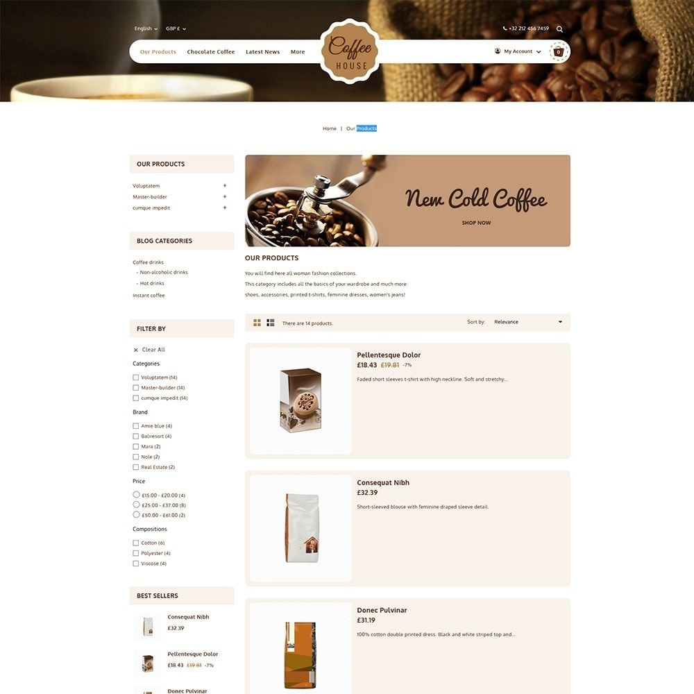 theme - Eten & Restaurant - Coffeehouse Beverage Store - 4