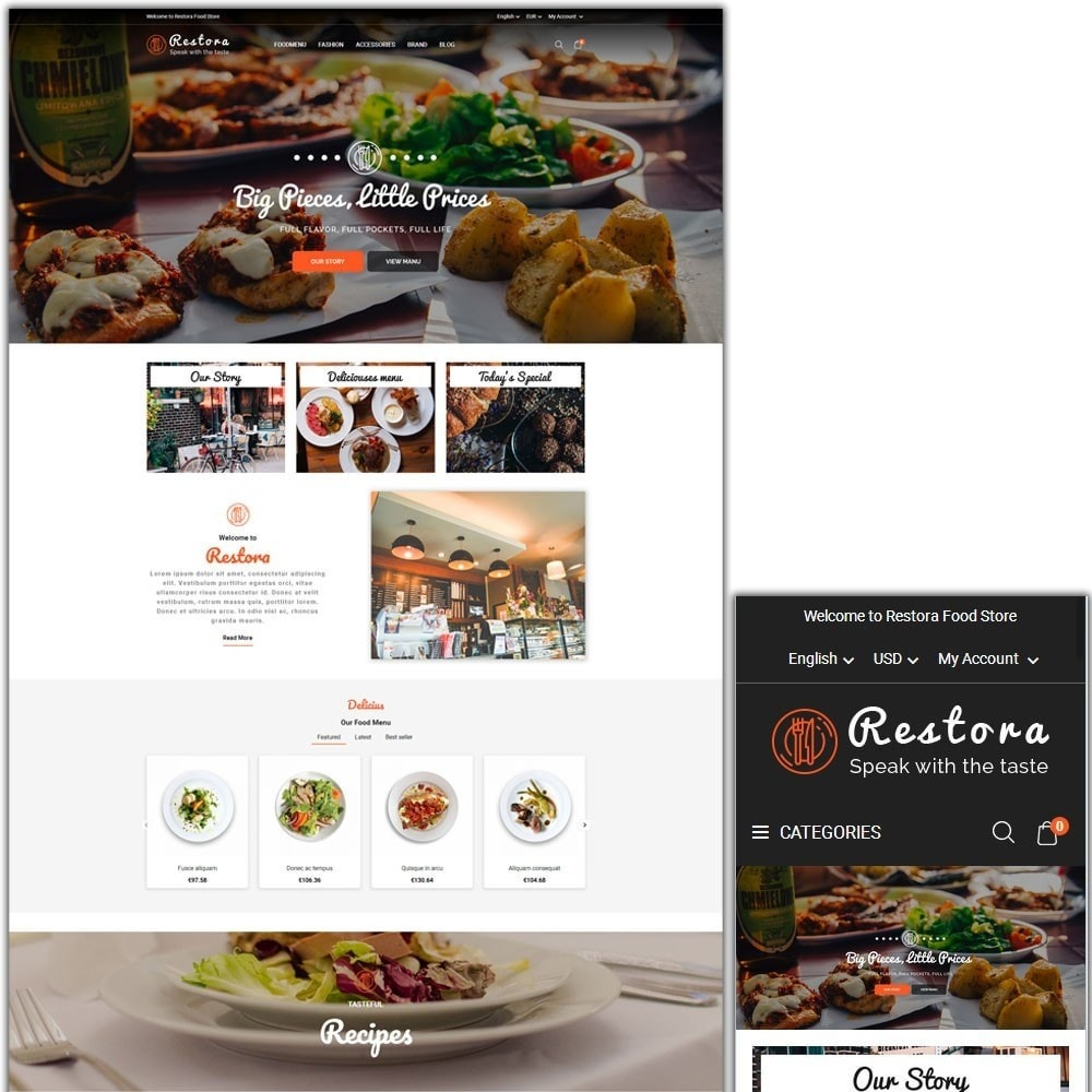 theme - Eten & Restaurant - Restora Food Store - 1