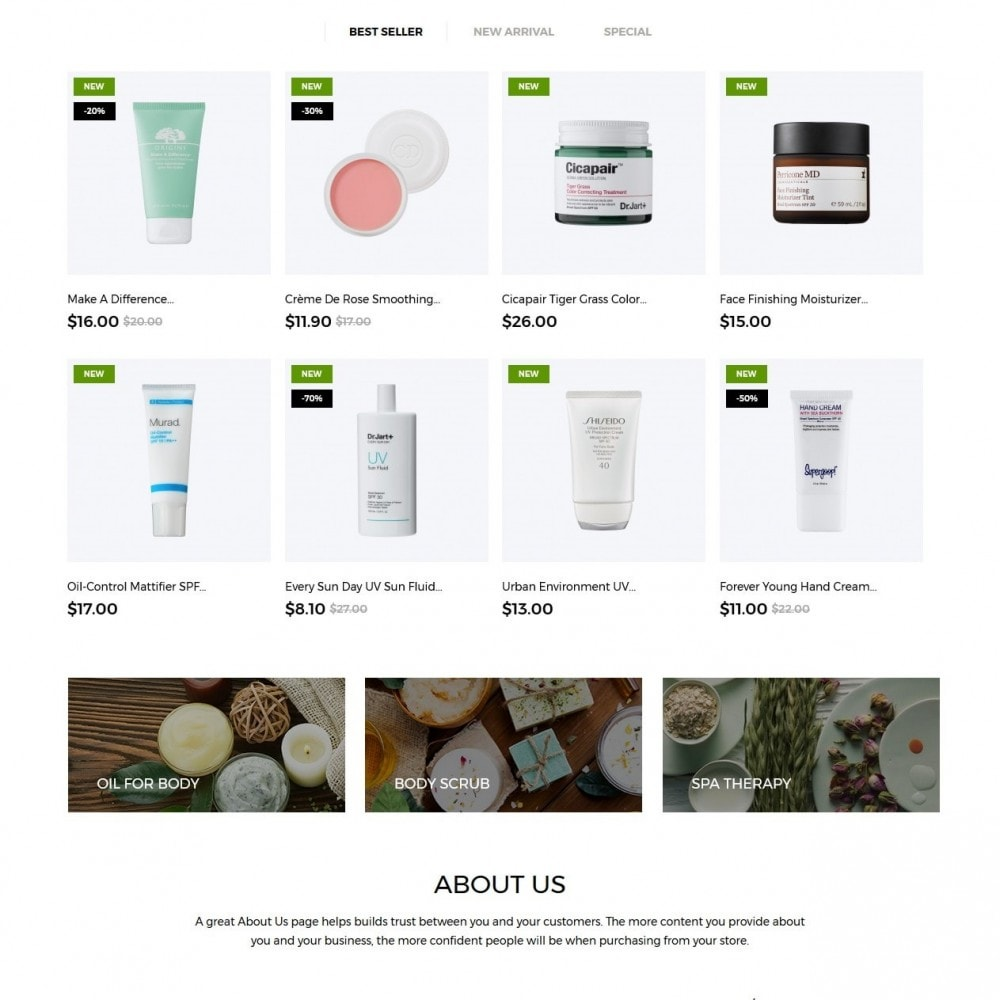 theme - Health & Beauty - Purely Cosmetics - 2