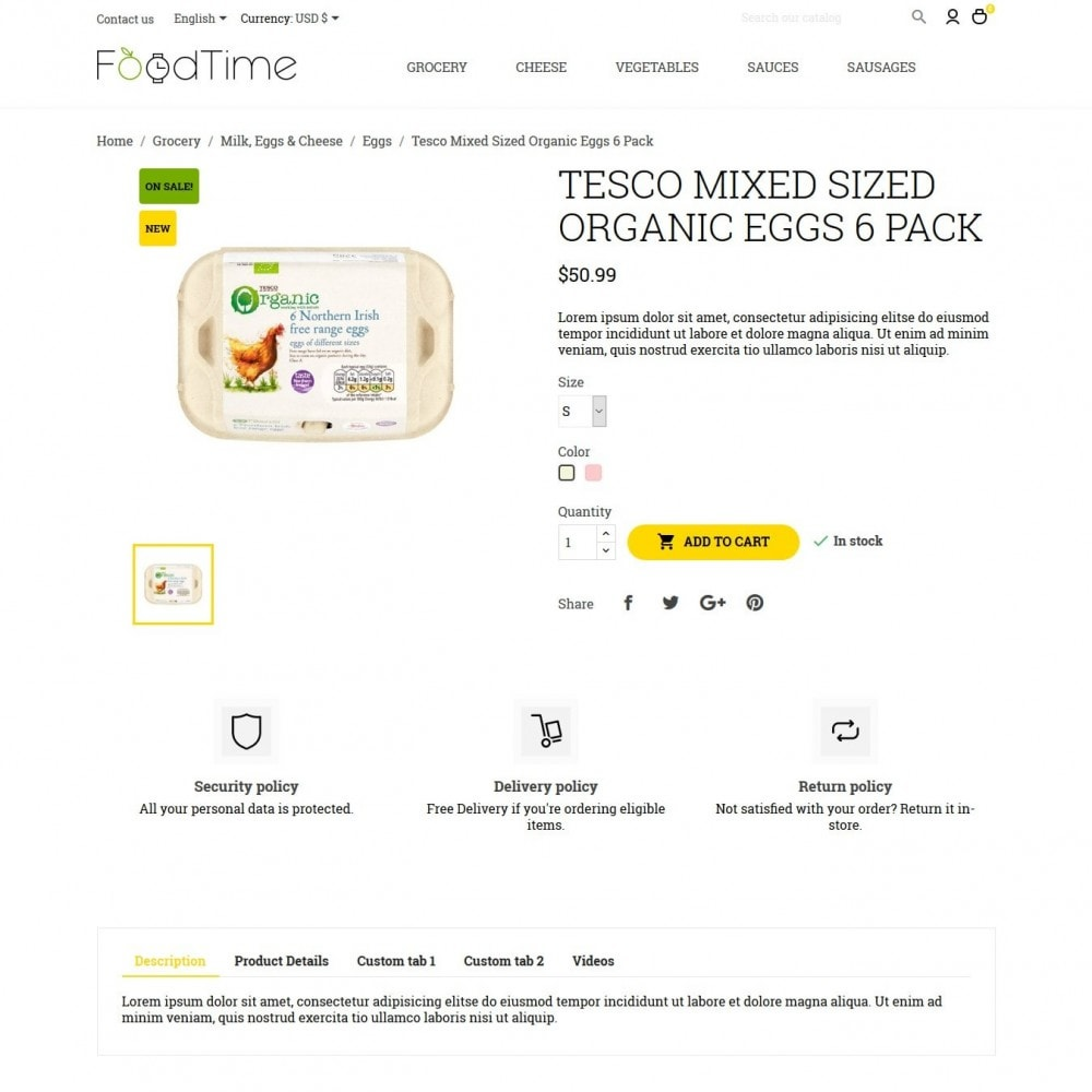 theme - Alimentation & Restauration - FoodTime - 6