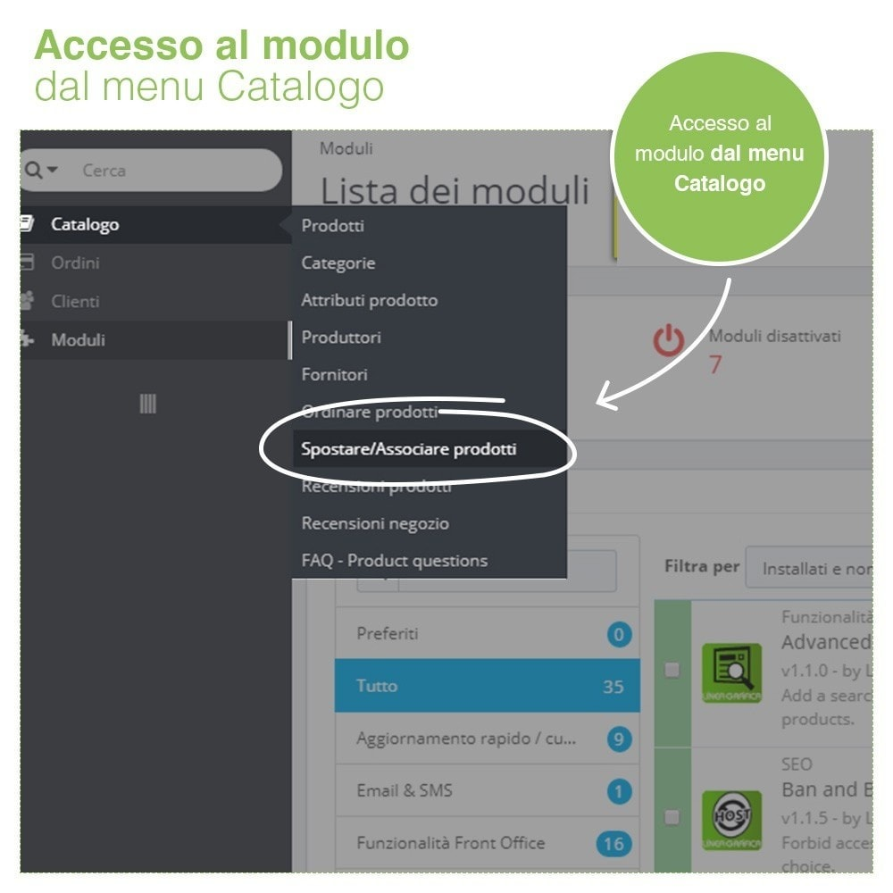 module - Modifica rapida & di massa - Spostare e Associare Prodotti tra Categorie in Massa - 2