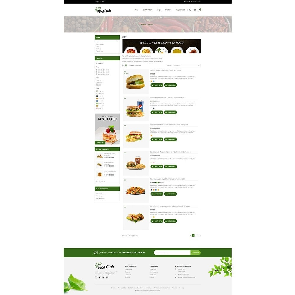 theme - Food & Restaurant - Foodclub Store - 4