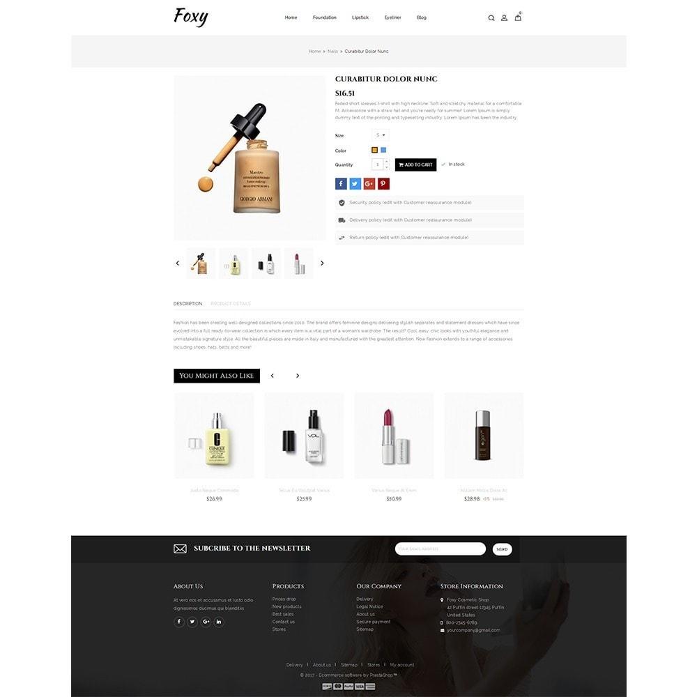 theme - Zdrowie & Uroda - Foxy Cosmetic Shop - 5