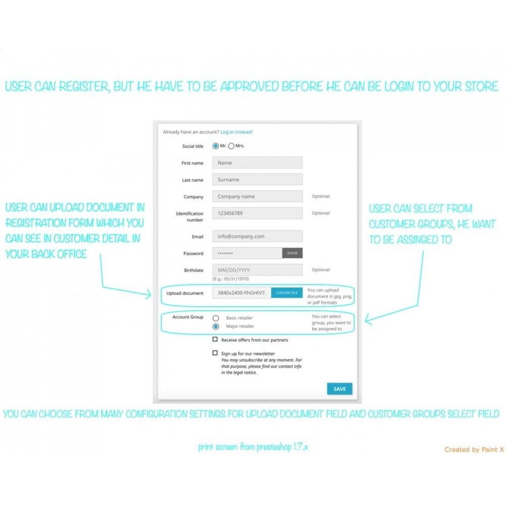module - B2B - Validation B2B du membre enregistré et cacher des prix - 1