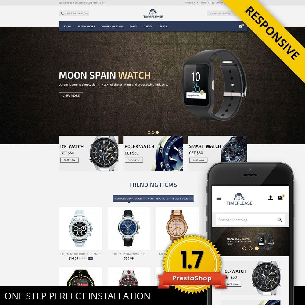 theme - Bellezza & Gioielli - Timeplease - Watchstore Template - 1