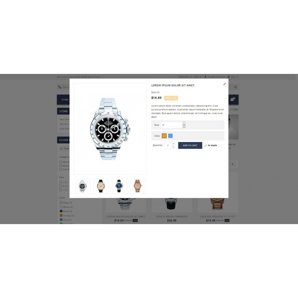 theme - Schmuck & Accesoires - Timeplease - Watchstore Template - 7