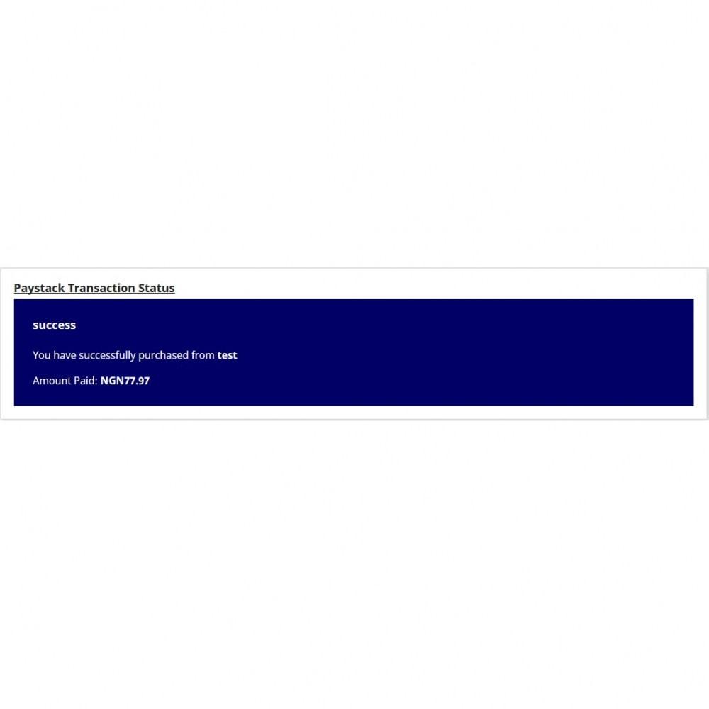 module - Оплата банковской картой или с помощью электронного кошелька - Paystack - 5