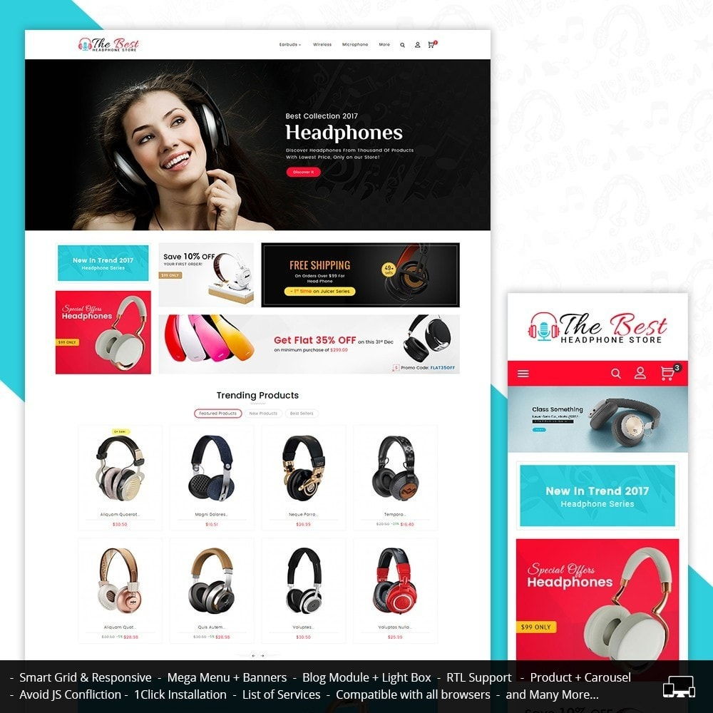 theme - Elektronika & High Tech - Headphone Store - 1
