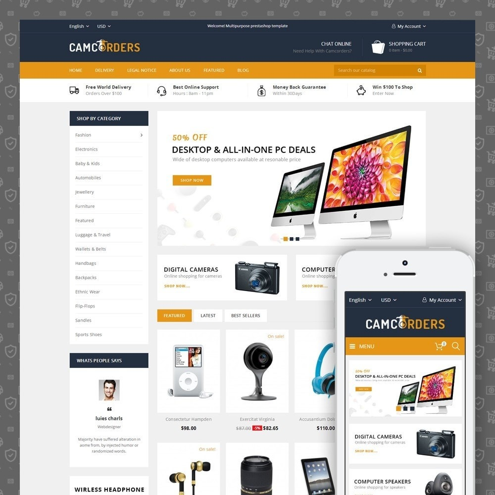 theme - Elektronica & High Tech - Camcorder - Electronics Store - 1