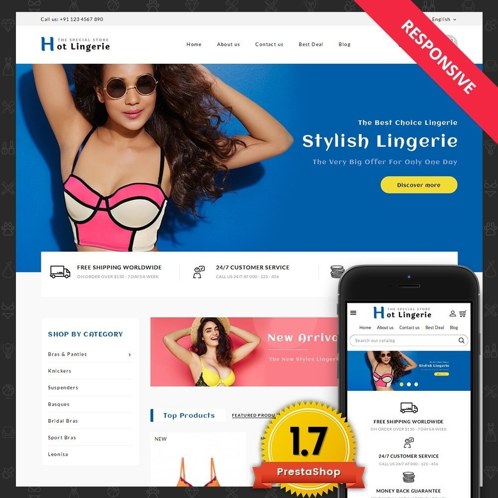 theme - Lenceria y Adultos - Hot Lingerie Store Template - 1