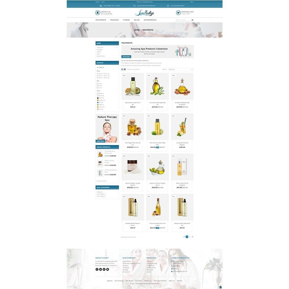 theme - Health & Beauty - Spaladies Store - 3