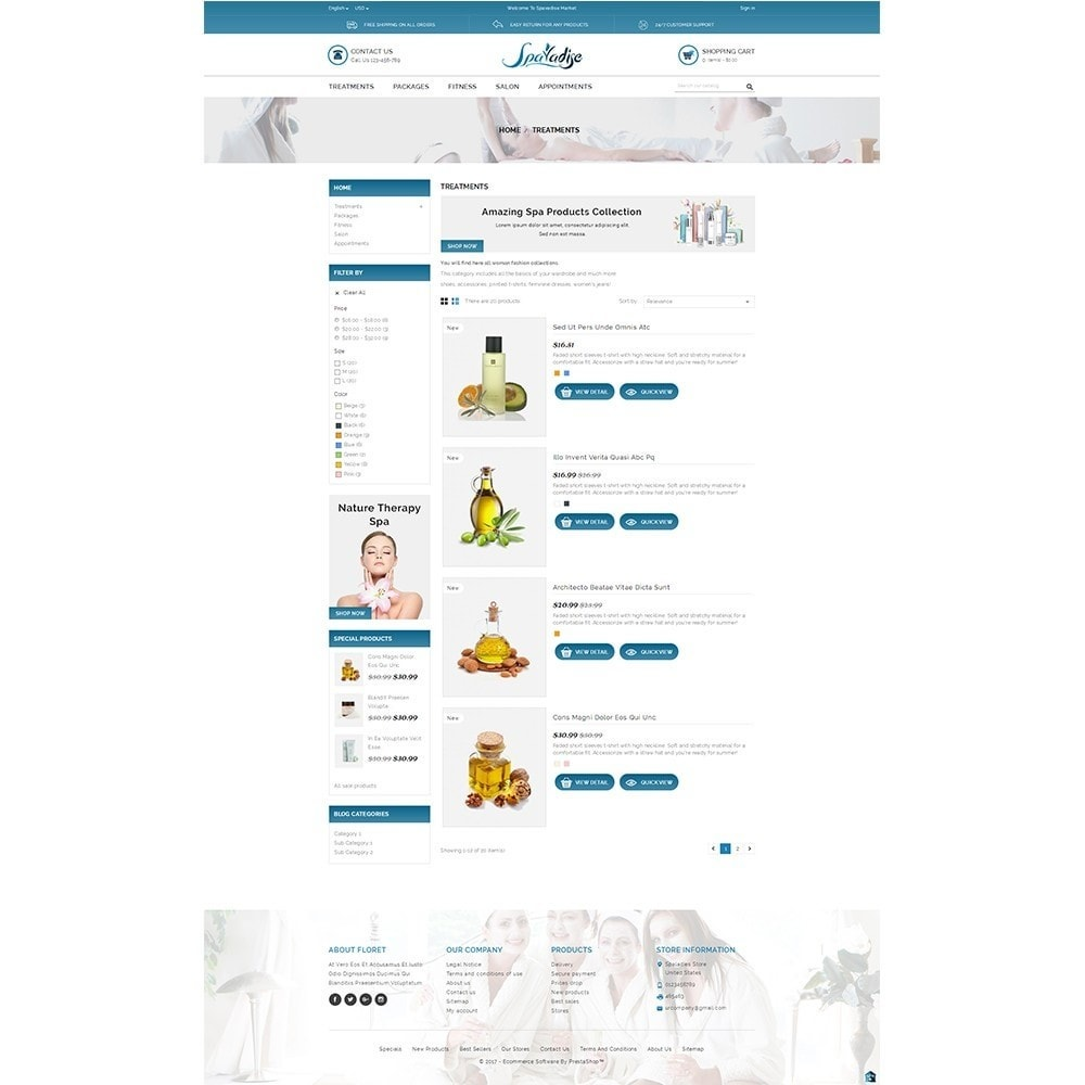 theme - Health & Beauty - Spaladies Store - 4