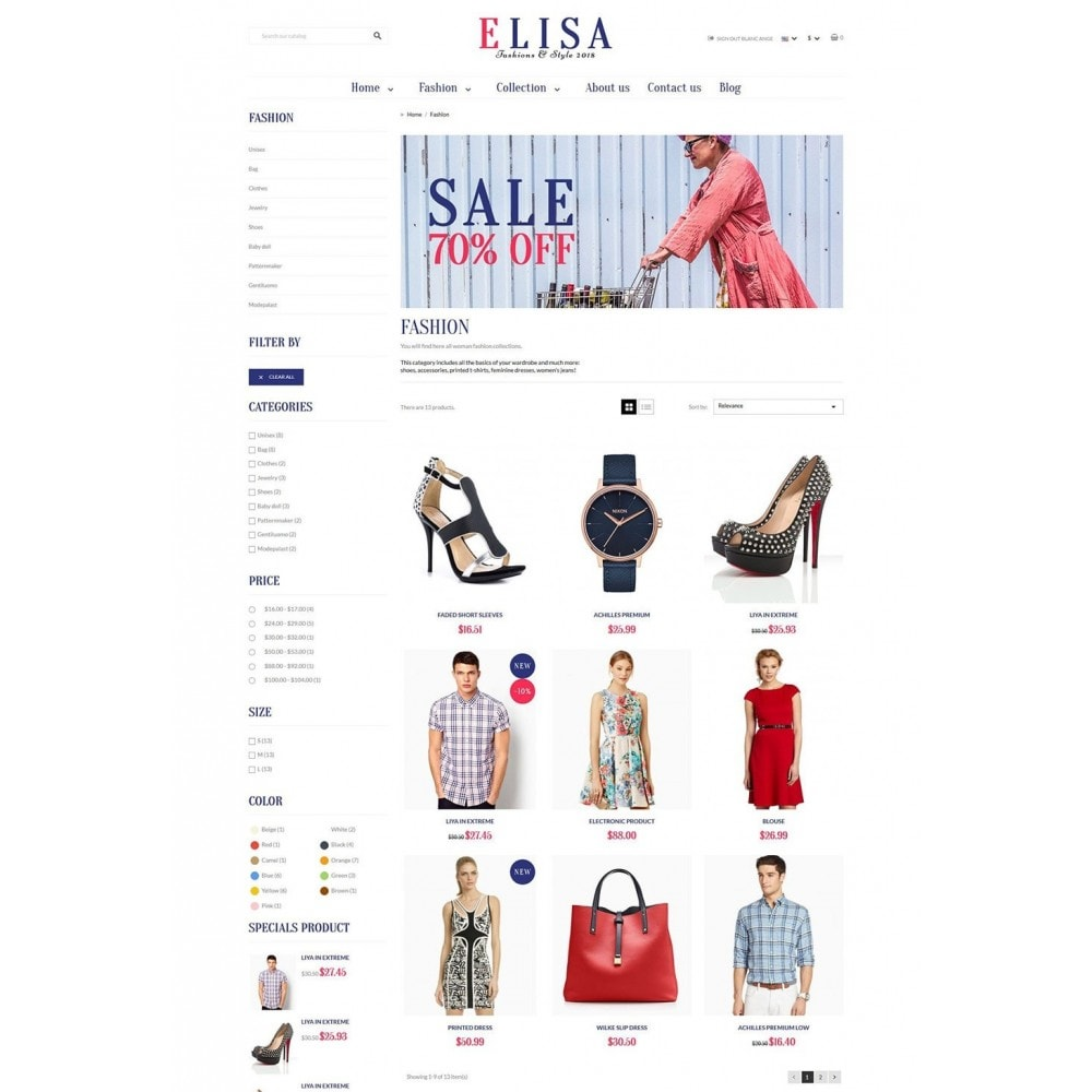 theme - Moda & Calzature - Elisa Fashion - 6
