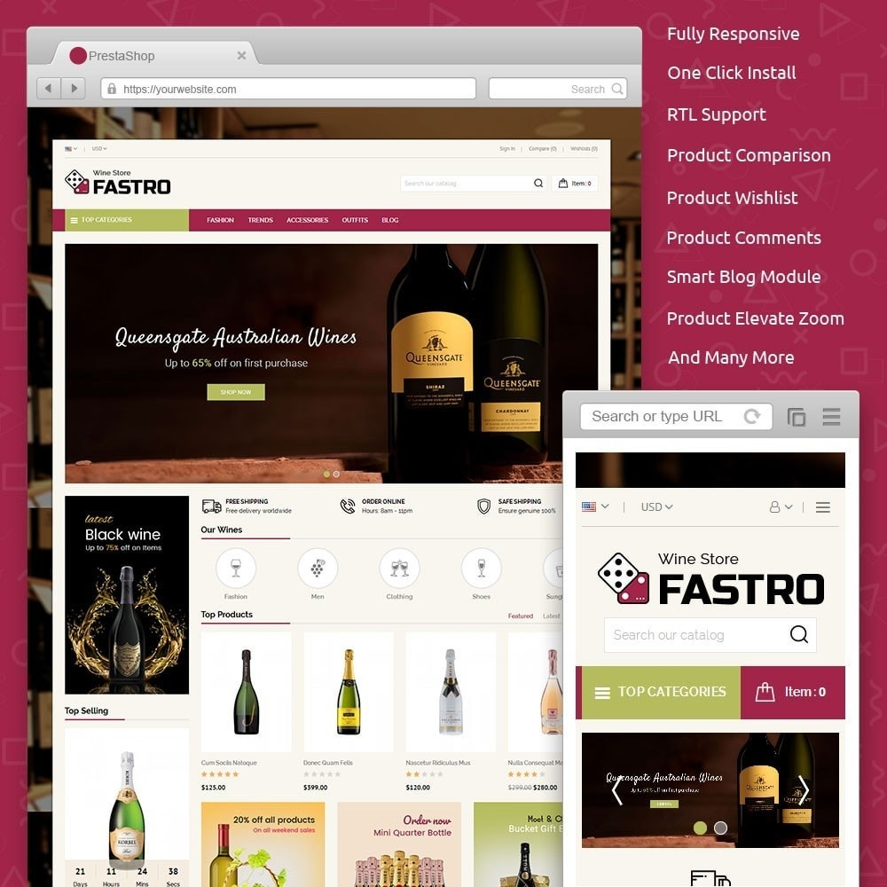 theme - Drink & Tobacco - Fastro Wine Store - 1