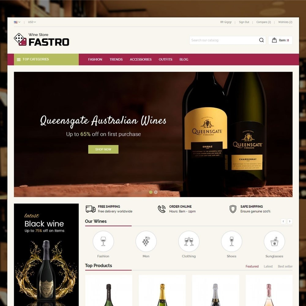 theme - Drink & Tobacco - Fastro Wine Store - 2