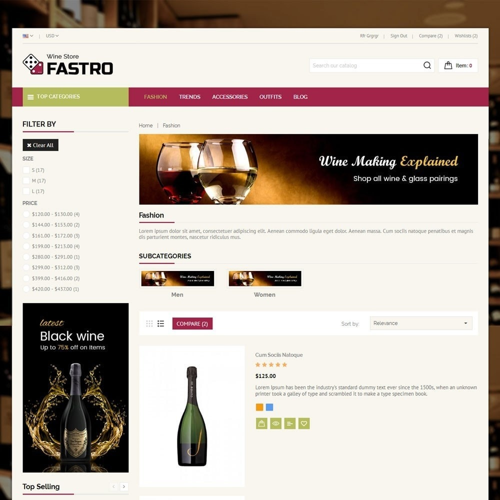 theme - Drink & Tobacco - Fastro Wine Store - 3