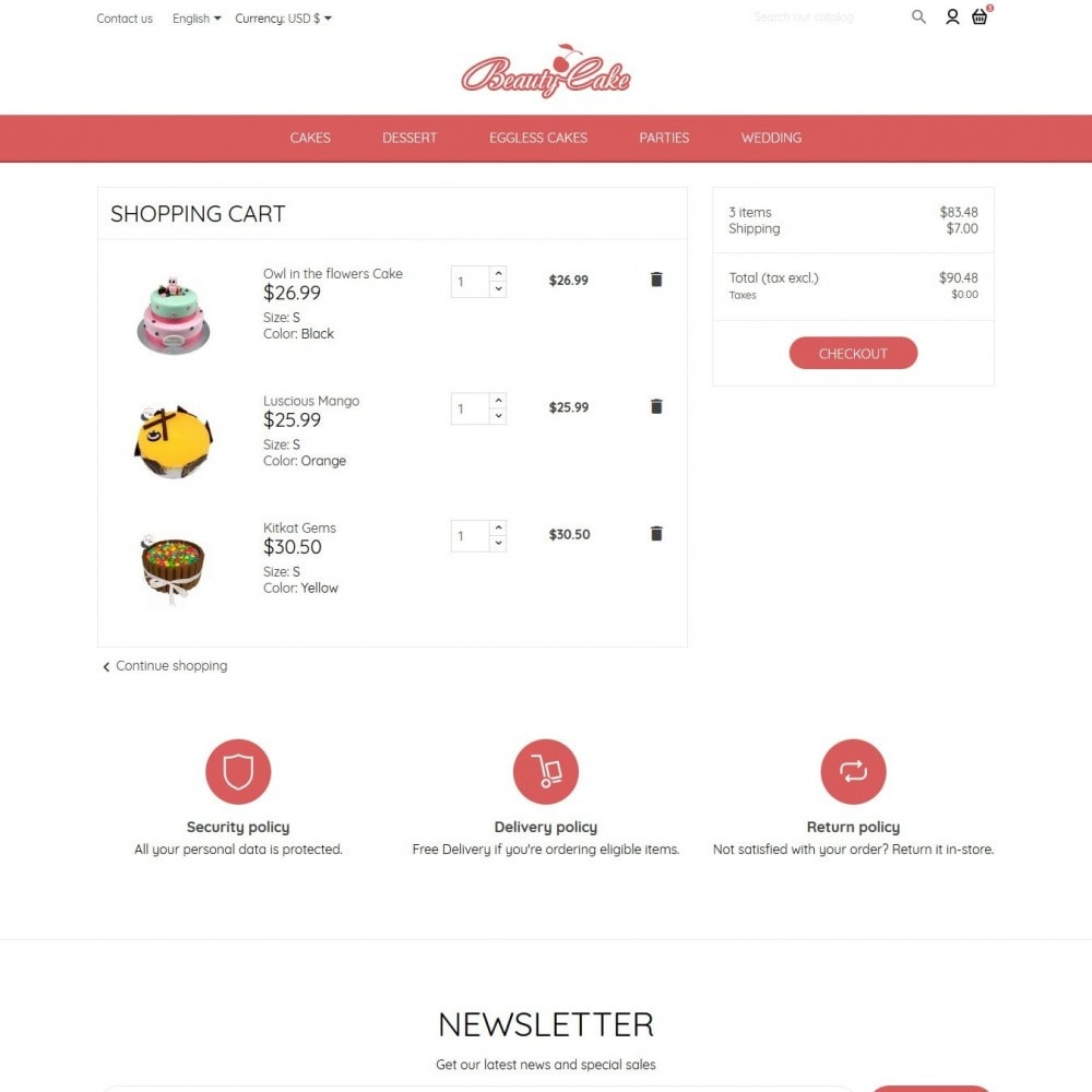 theme - Żywność & Restauracje - BeautyCake - 9
