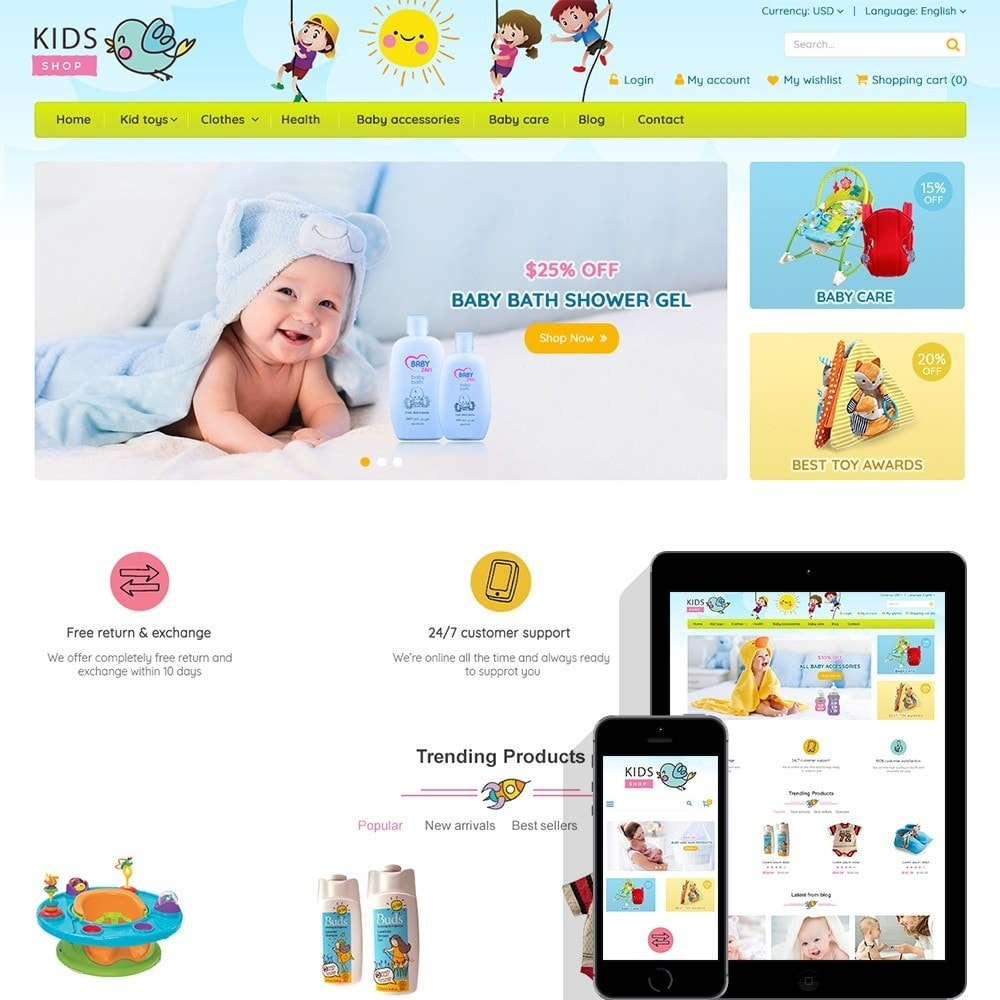 Kids Shop - All in one package