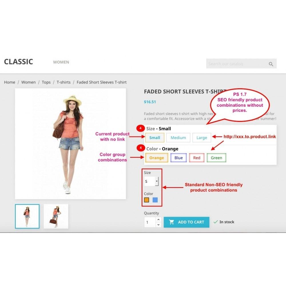 module - Versies & Personalisering van producten - Ultimate SEO combination (like Amazon) - 2