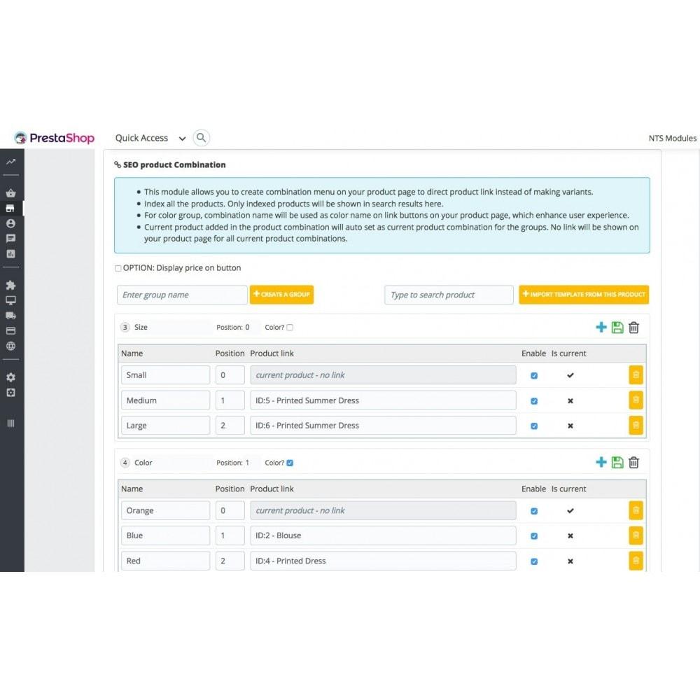 module - Combinaciones y Personalización de productos - Ultimate SEO combination - 4