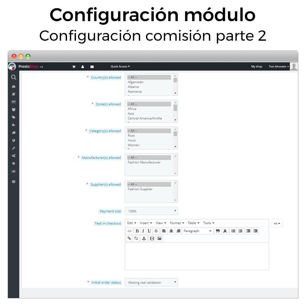 module - Pago a la Entrega (contrarrembolso) - Pago contra reembolso con comisión/recargo Plus - 5