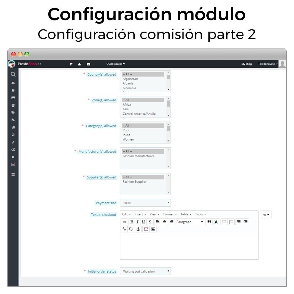 bundle - Módulos PrestaShop - Must-have: Cash on delivery + Cookies (GDPR) Pack - 5