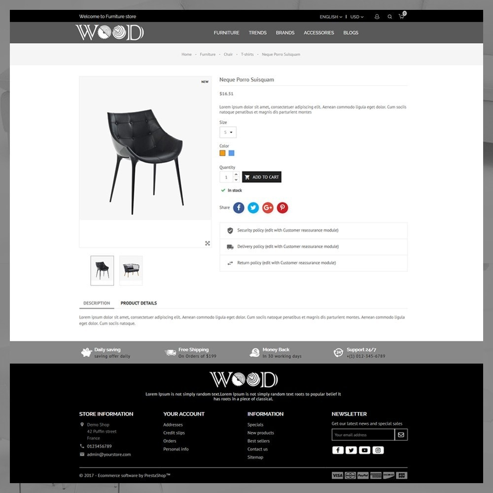 theme - Дом и сад - Wood Furniture Store - 6