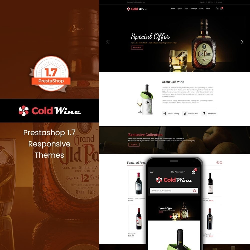 theme - Drink & Wine - Coldwine - Wine Store - 1