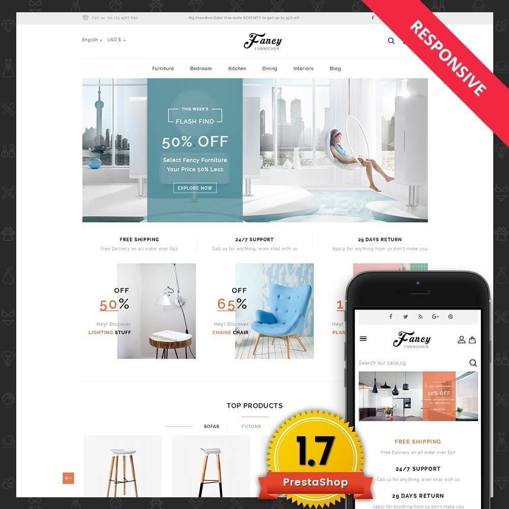 theme - Дом и сад - Fancy Furniture Online Store - 1