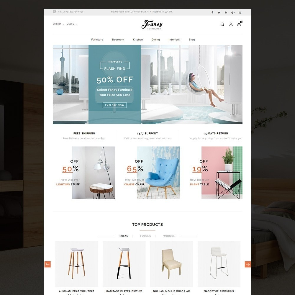 Fancy Furniture Online Store
