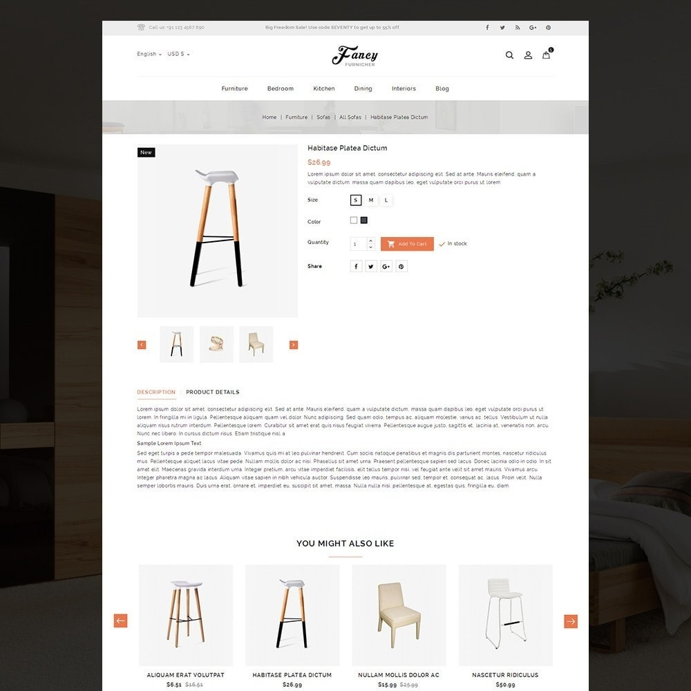 Fancy Furniture Online Store Template