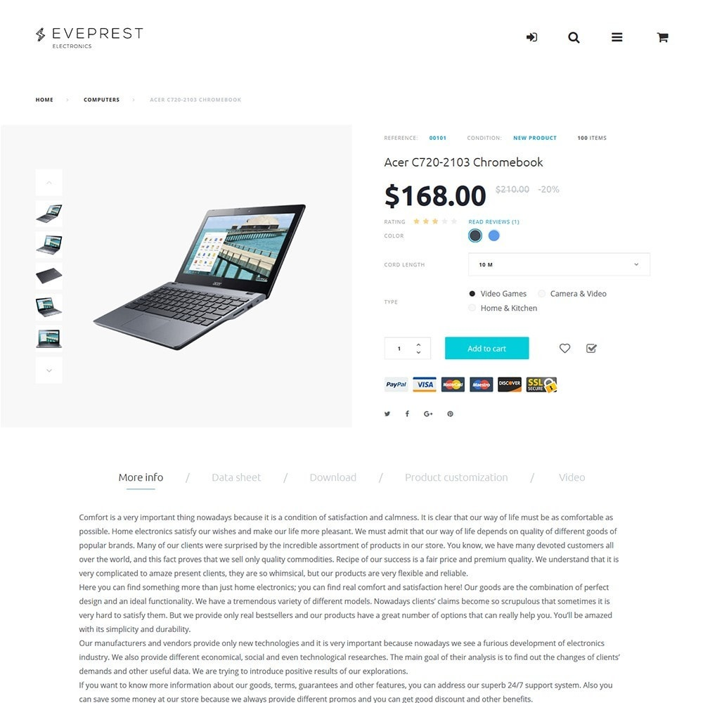 theme - Elektronik & High Tech - Eveprest - Electronics PrestaShop Theme - 6