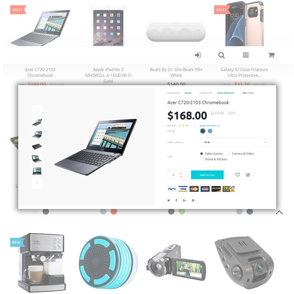 Eveprest - Électronique thème PrestaShop adaptatif