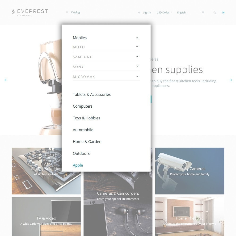 theme - Electronique & High Tech - Eveprest - Électronique thème PrestaShop adaptatif - 4