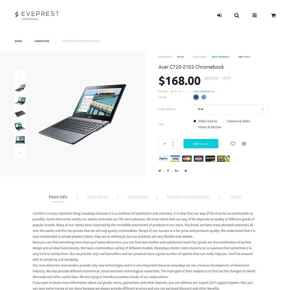 theme - Elettronica & High Tech - Eveprest -  per Un Sito di Negozio di Elettronica - 6